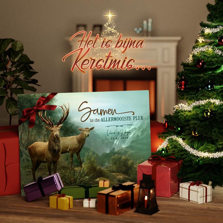 Canvas Cadeau Verliefde Herten
