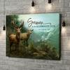 Gepersonaliseerde canvas print Verliefde Herten