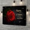 Gepersonaliseerde canvas print Roos der Liefde
