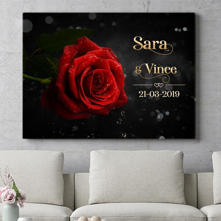 Personaliseerbaar cadeau Roos der Liefde