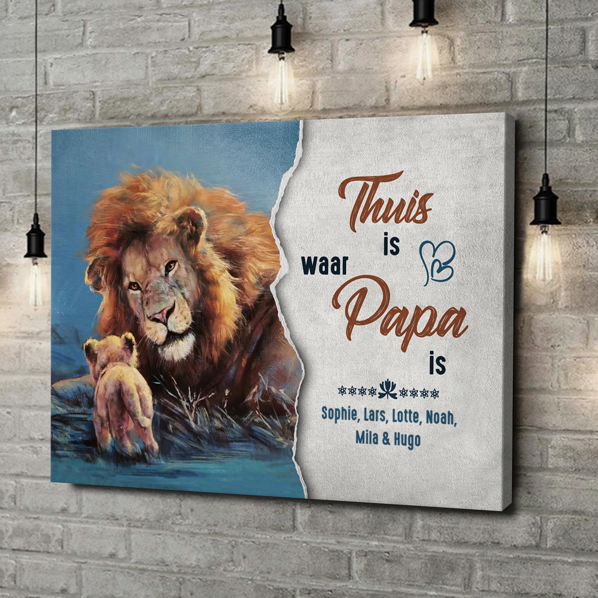 Gepersonaliseerde canvas print Mijn vader - Mijn huis