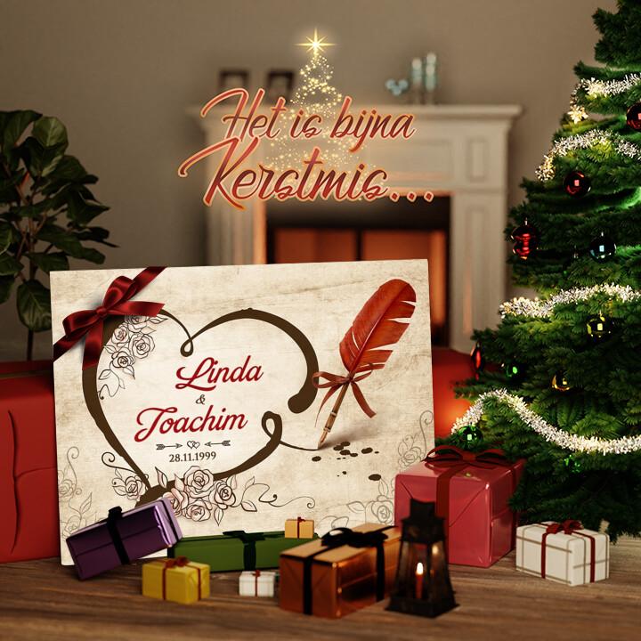 Canvas Cadeau Bezegelde liefde