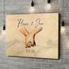 Gepersonaliseerde canvas print Hand in Hand