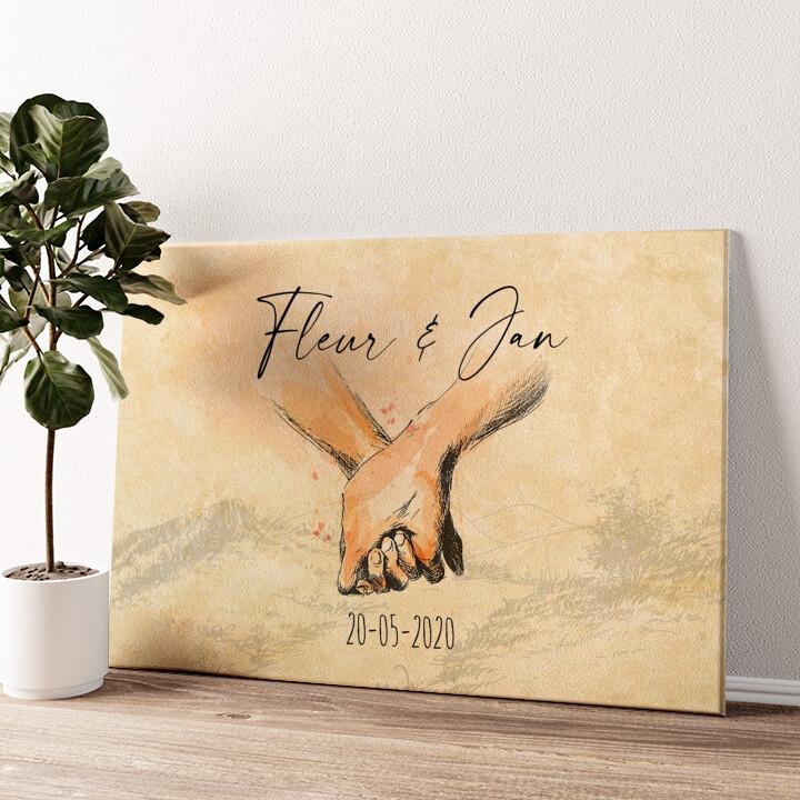 Hand in Hand Gepersonaliseerde muurschildering