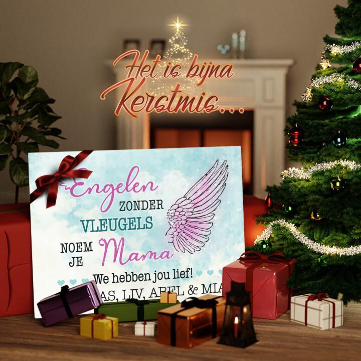 Canvas Cadeau Engel van de Familie