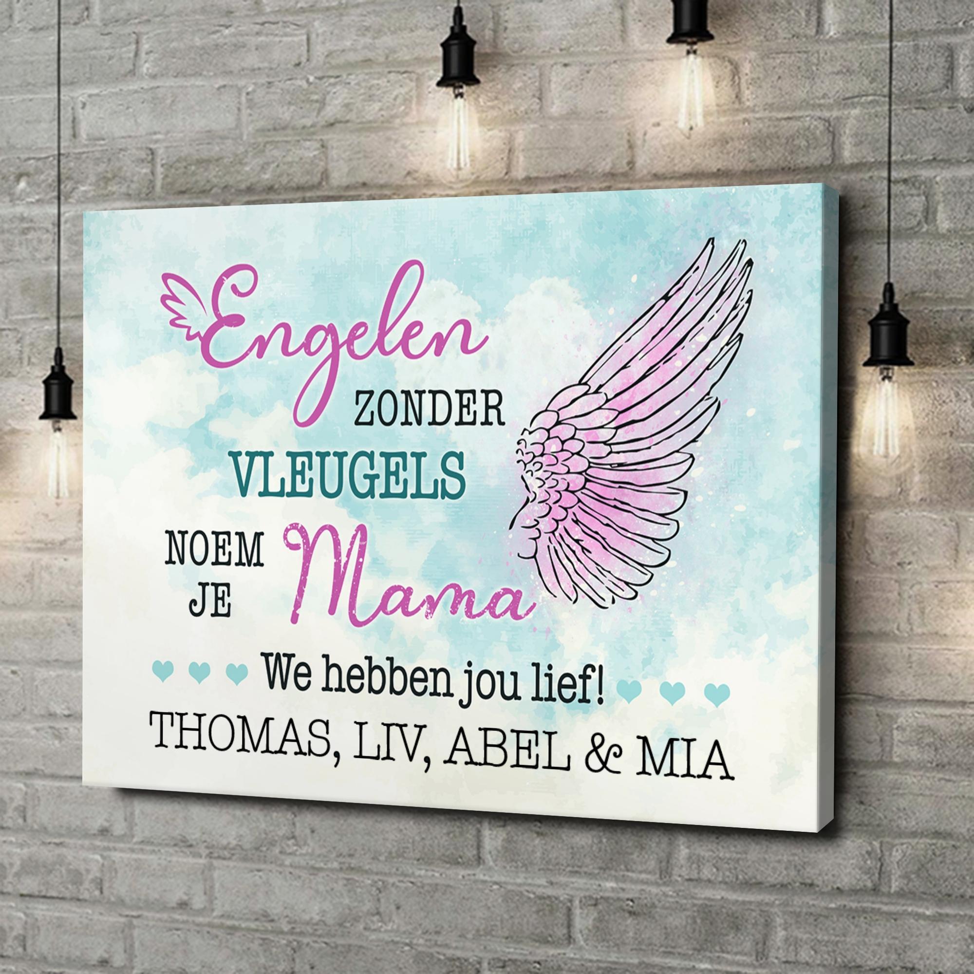 Gepersonaliseerde canvas print Engel van de Familie