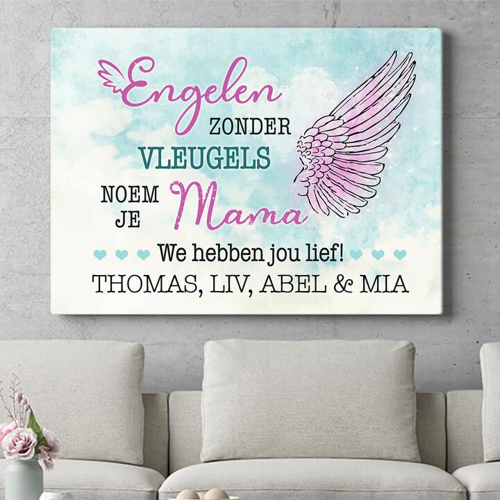 Personaliseerbaar cadeau Engel van de Familie