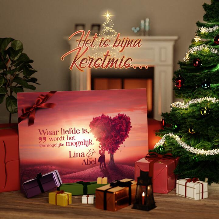 Canvas Cadeau Liefdesboom