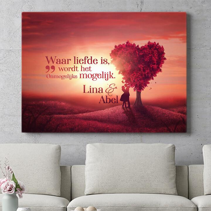 Personaliseerbaar cadeau Liefdesboom