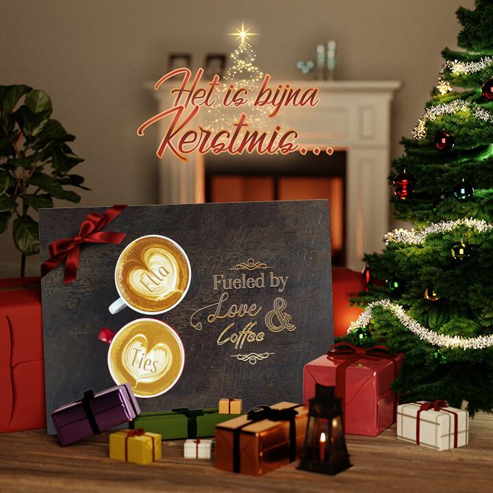 Canvas Cadeau Koffie