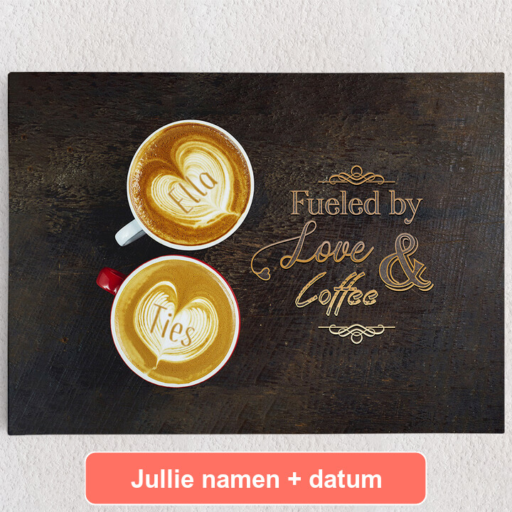 Gepersonaliseerde Canvas Koffie