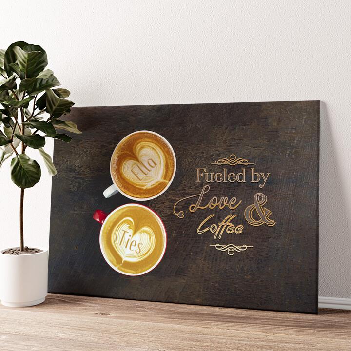 Koffie Gepersonaliseerde muurschildering