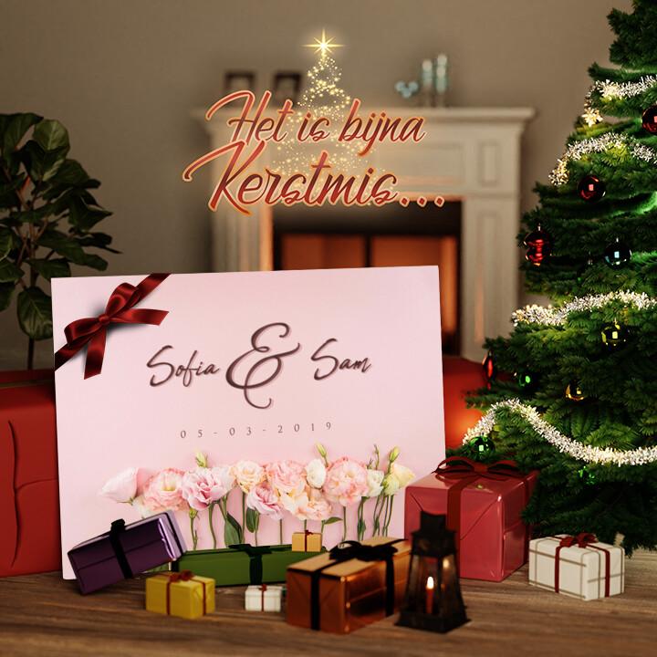 Canvas Cadeau Bloemen
