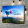 Gepersonaliseerde canvas print Ballonnen