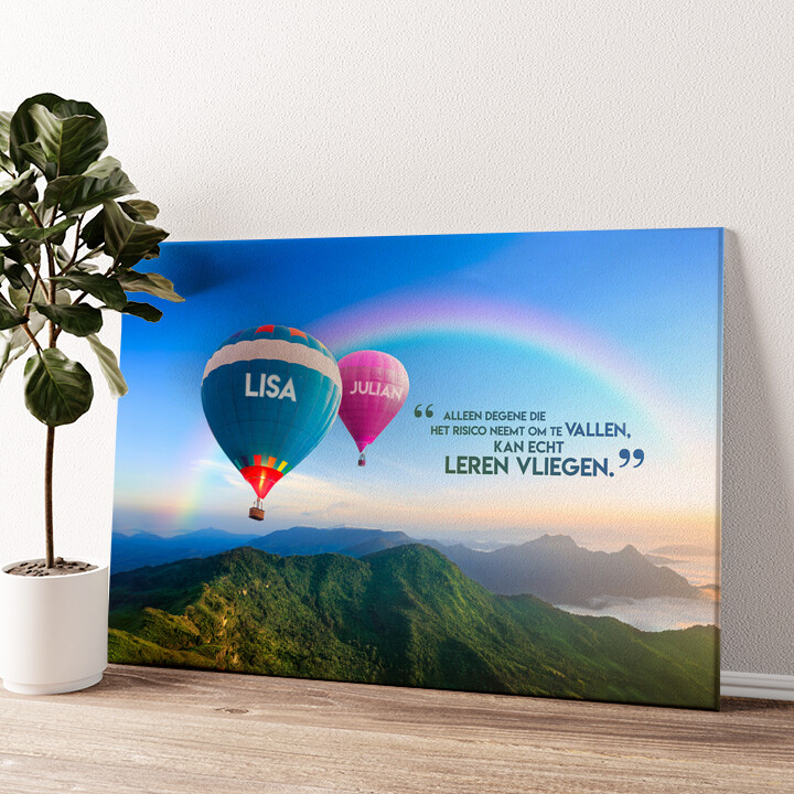 Ballonnen Gepersonaliseerde muurschildering