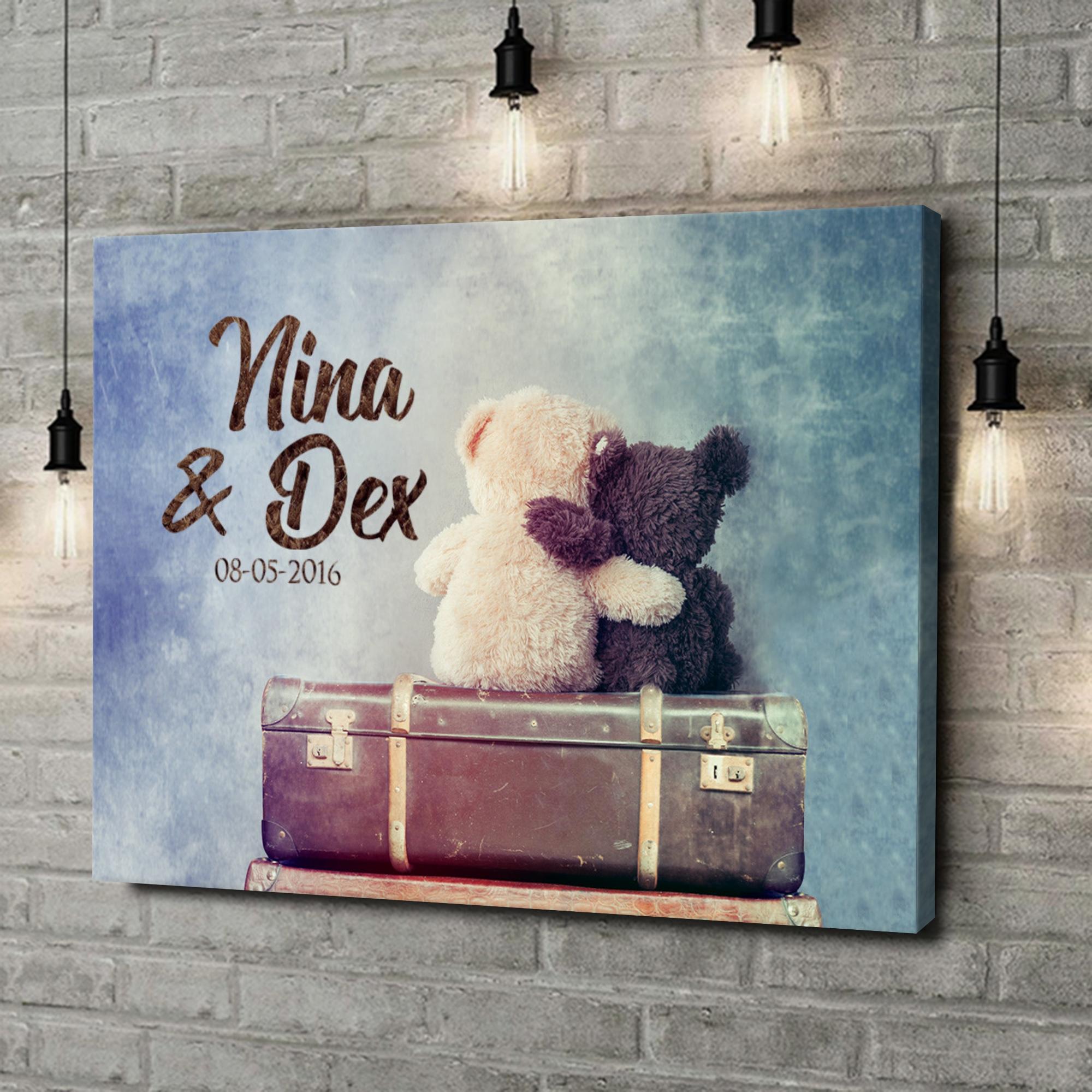 Gepersonaliseerde canvas print Teddyberen