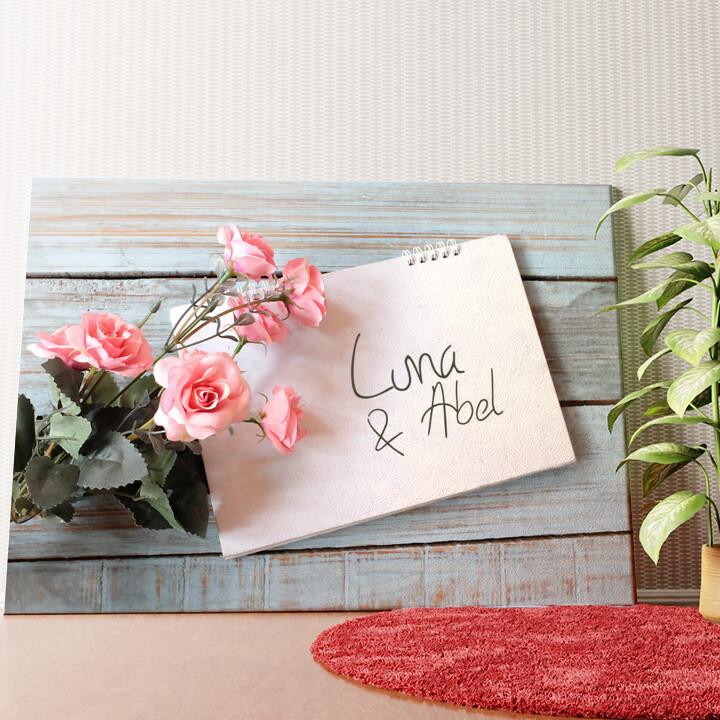 Gepersonaliseerde muurschildering Liefdebrief