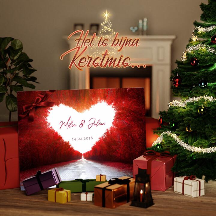 Canvas Cadeau Liefdesweg