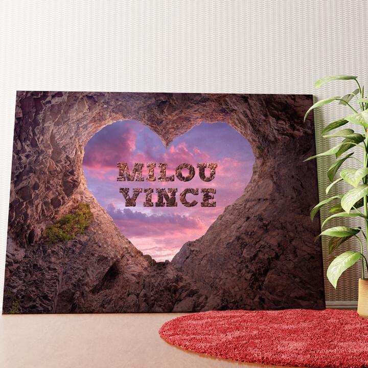 Gepersonaliseerde muurschildering Rotsvaste Liefde