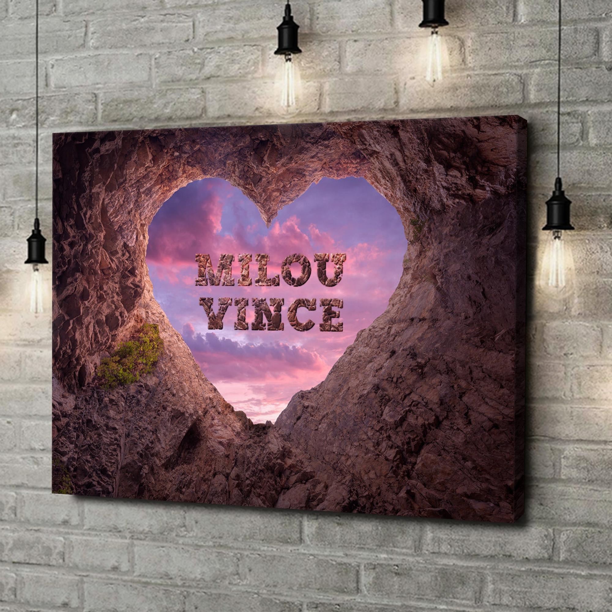 Gepersonaliseerde canvas print Rotsvaste Liefde