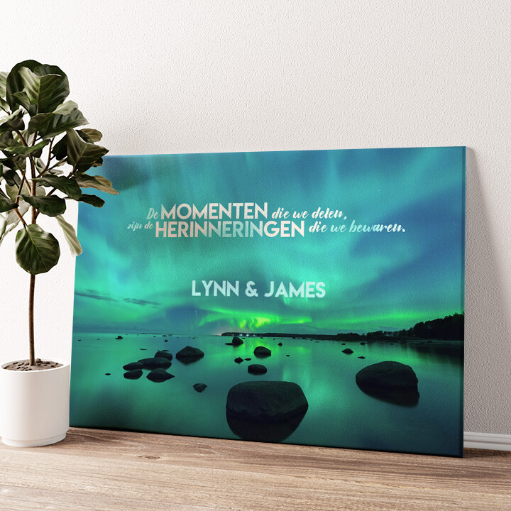 Noorder Liefde Gepersonaliseerde muurschildering