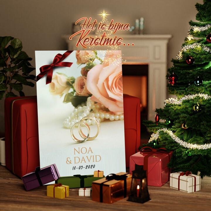Canvas Cadeau 2 Ringen 1 Liefde