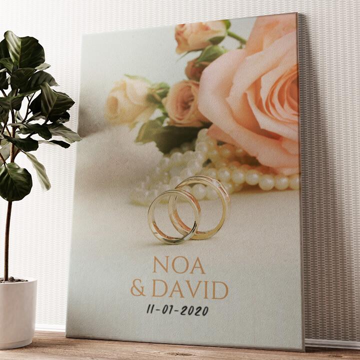 2 Ringen 1 Liefde Gepersonaliseerde muurschildering