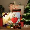Canvas Cadeau Geborgen Liefde