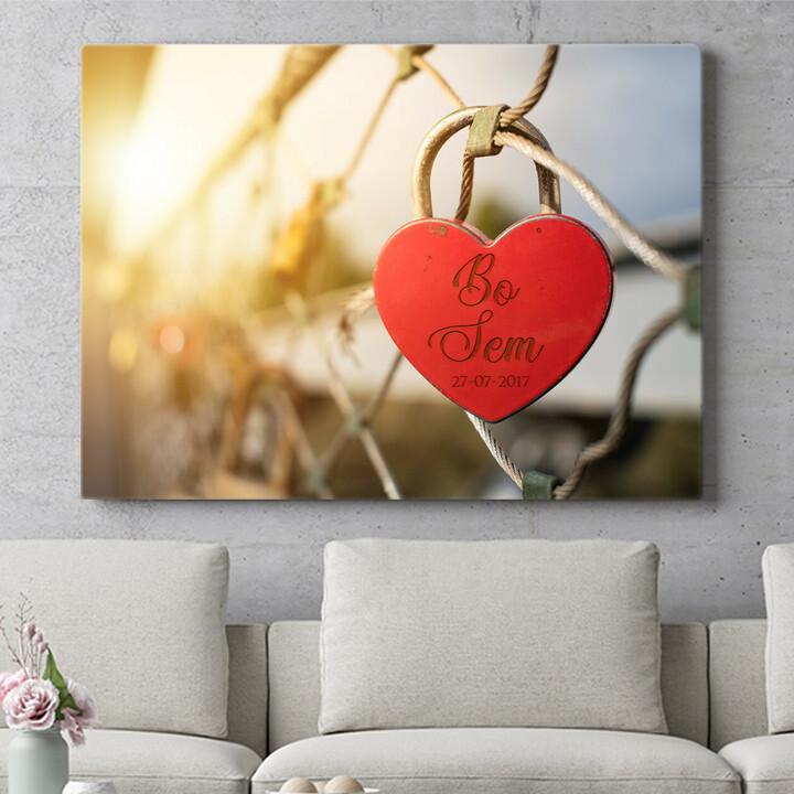 Personaliseerbaar cadeau Geborgen Liefde