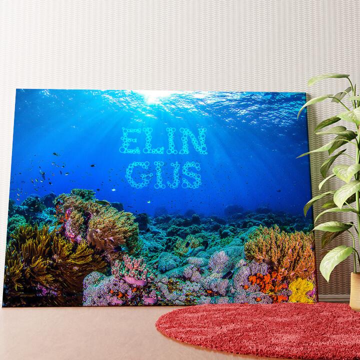 Gepersonaliseerde muurschildering Onder de zee