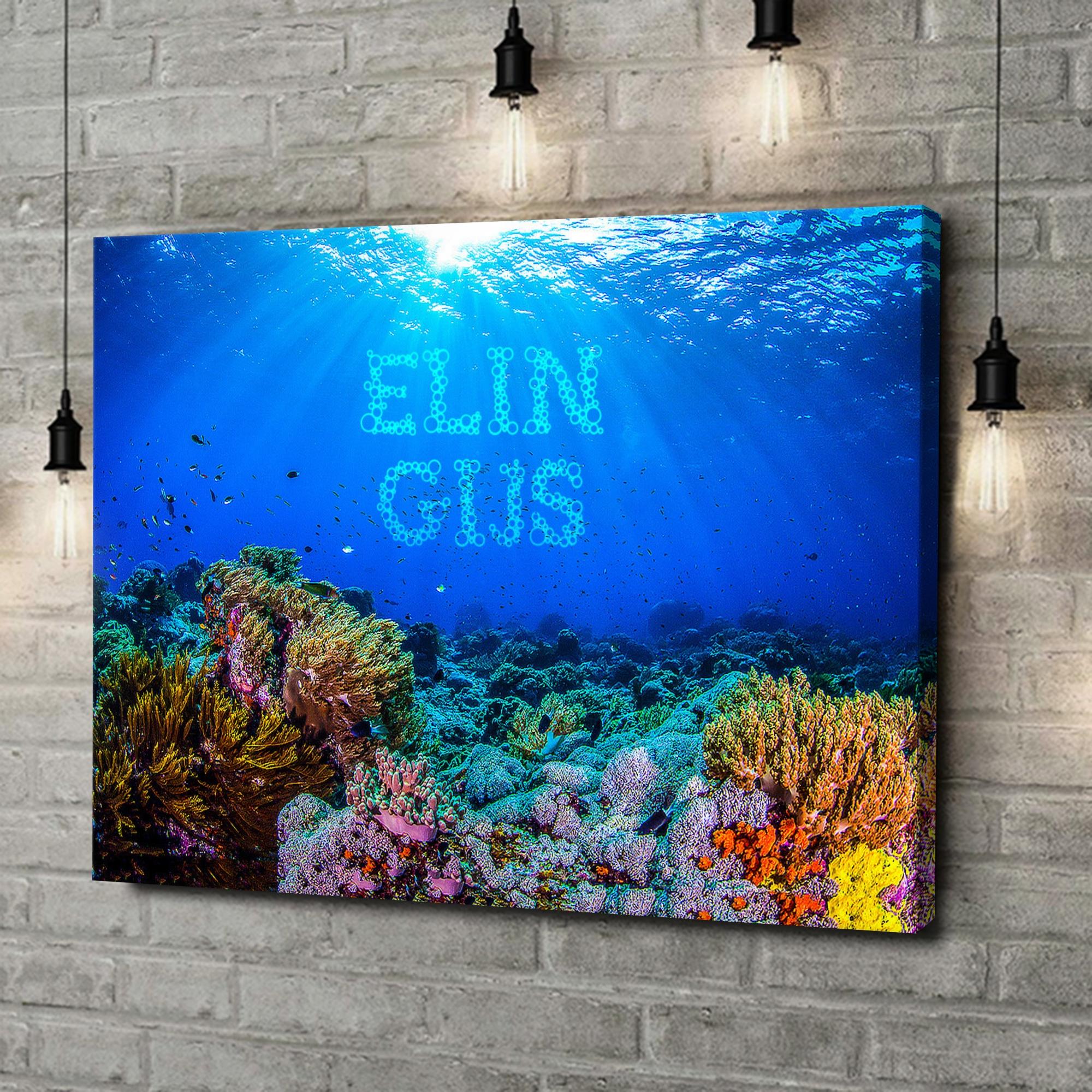 Gepersonaliseerde canvas print Onder de zee