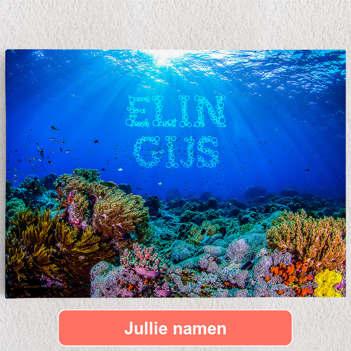 Gepersonaliseerde Canvas Onder de zee