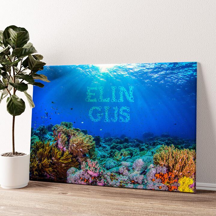 Onder de zee Gepersonaliseerde muurschildering