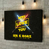 Gepersonaliseerde canvas print May The Love Be With You