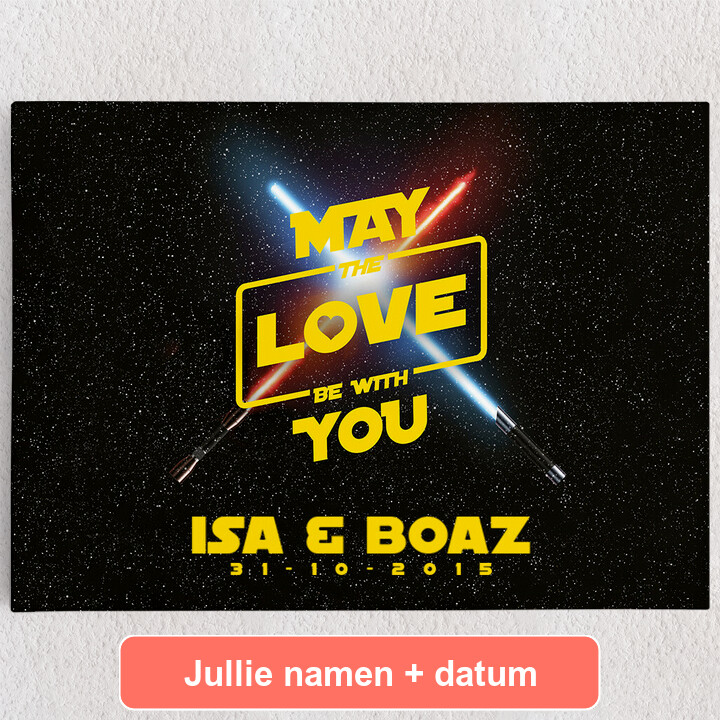 Gepersonaliseerde Canvas May The Love Be With You