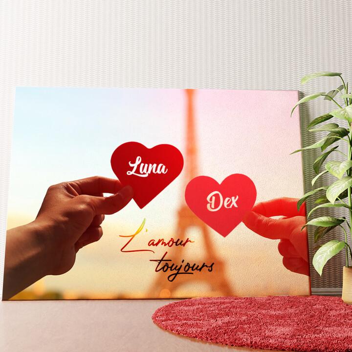 Gepersonaliseerde muurschildering L'amour Toujours