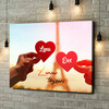 Gepersonaliseerde canvas print L'amour Toujours