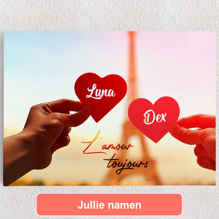 Gepersonaliseerde Canvas L'amour Toujours