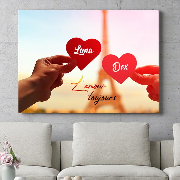 Personaliseerbaar cadeau L'amour Toujours