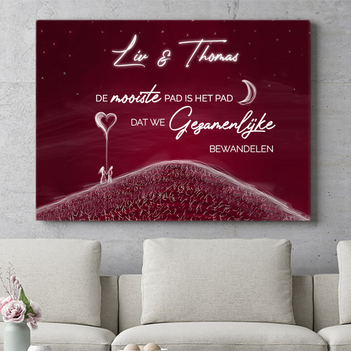 Personaliseerbaar cadeau Liefdesheuvel