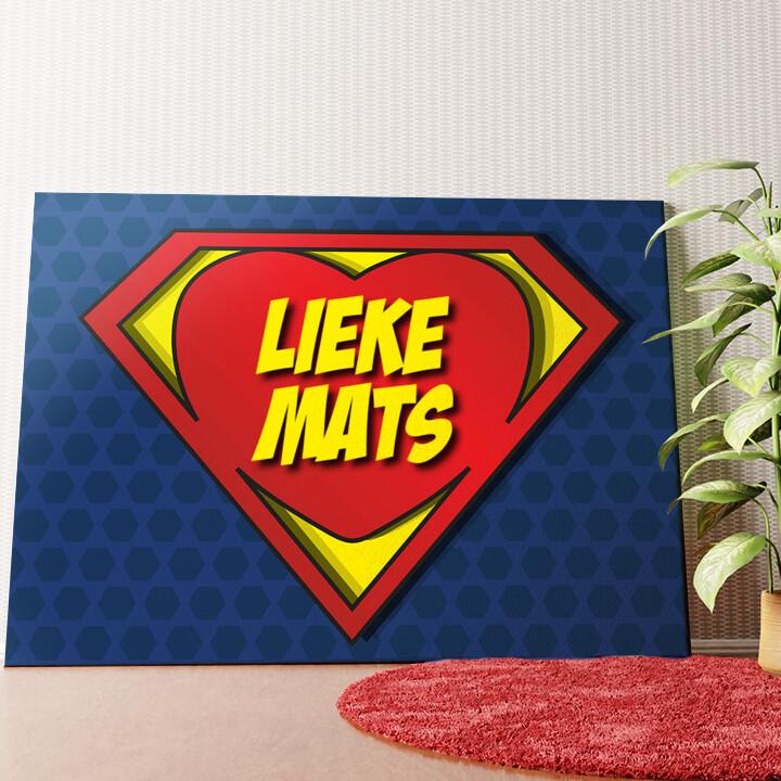 Gepersonaliseerde muurschildering Super Liefde