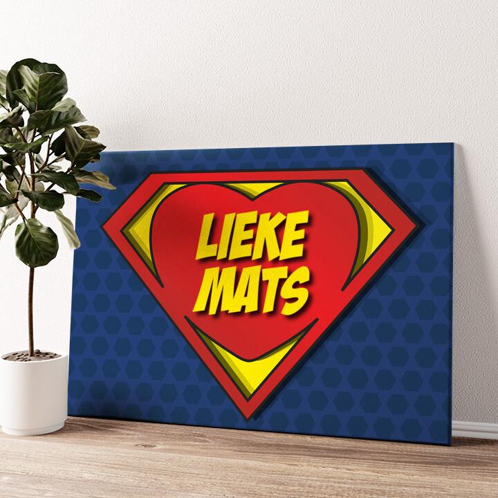 Super Liefde Gepersonaliseerde muurschildering