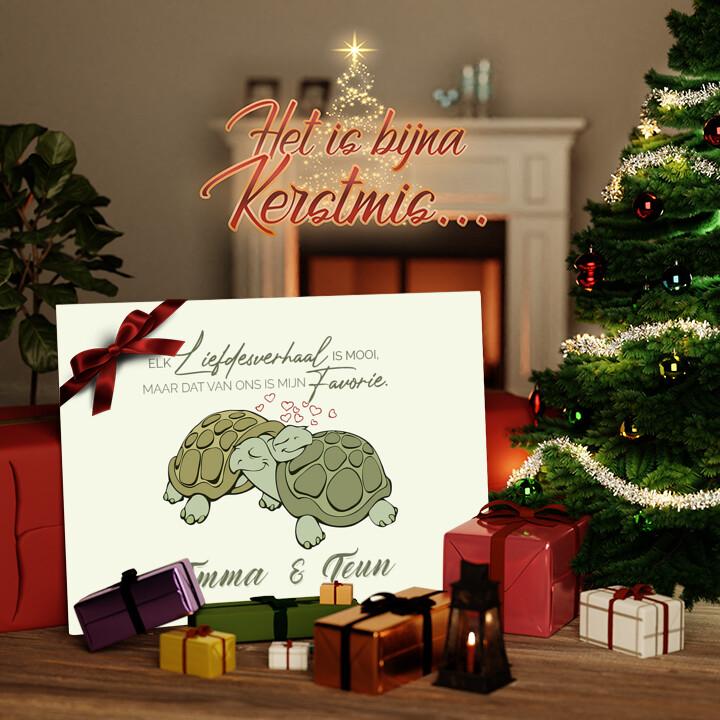 Canvas Cadeau Schildpaddenliefde