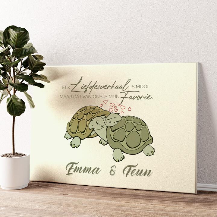 Schildpaddenliefde Gepersonaliseerde muurschildering