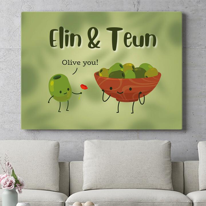 Personaliseerbaar cadeau Olive You