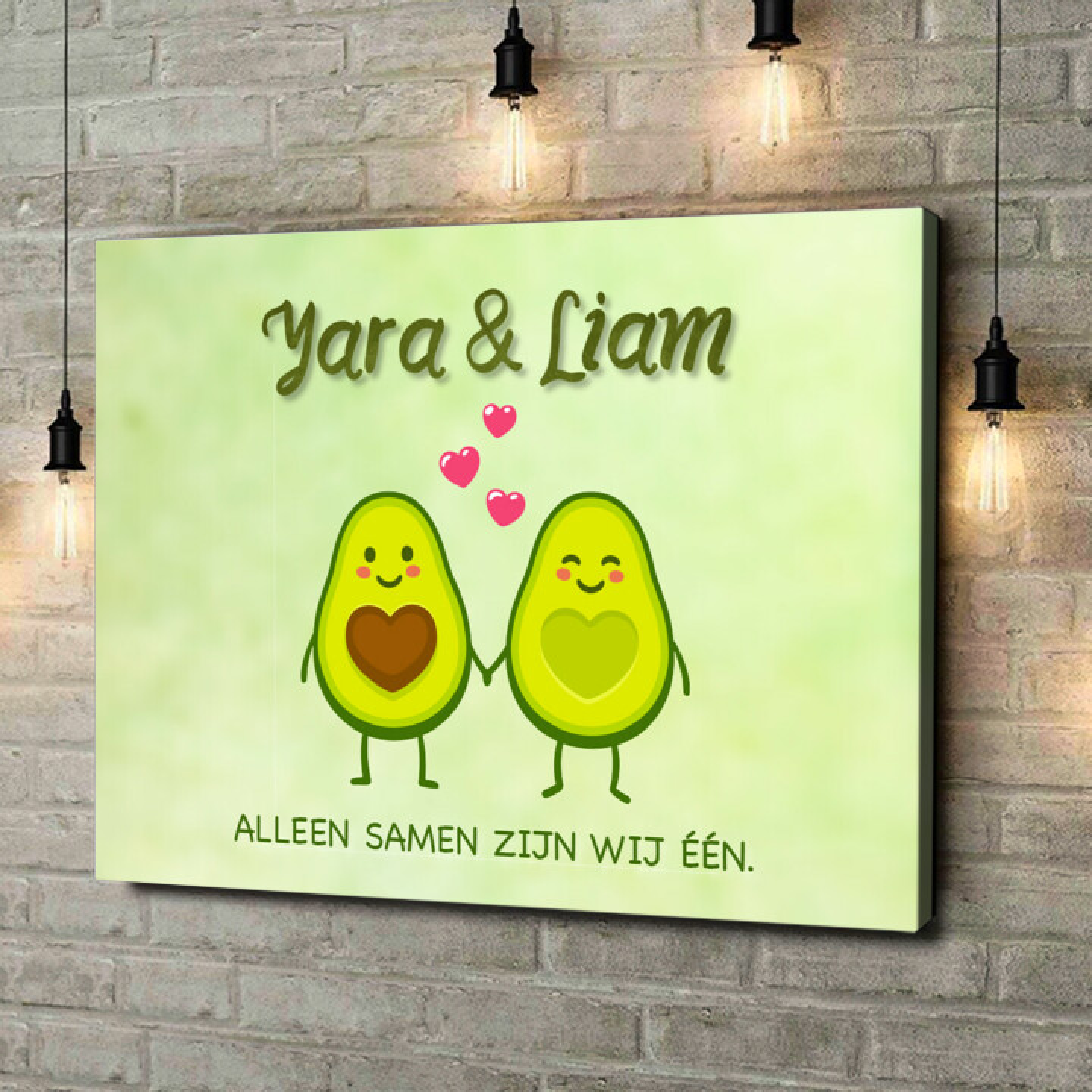Gepersonaliseerde canvas print Avocado