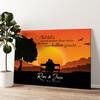 Bankje bij Zonsondergang Gepersonaliseerde muurschildering