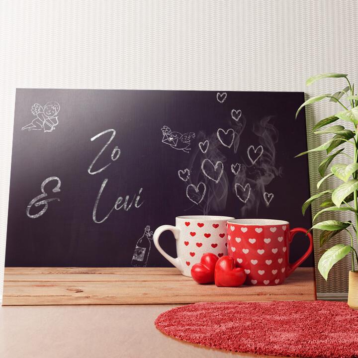 Gepersonaliseerde muurschildering Krijtbord