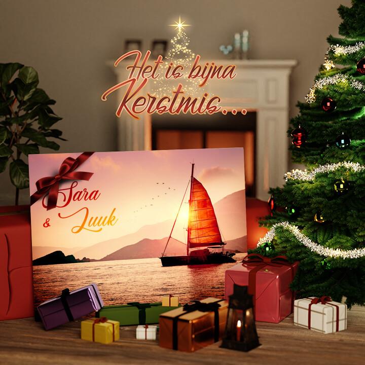 Canvas Cadeau Zeilende liefde