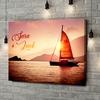 Gepersonaliseerde canvas print Zeilende liefde
